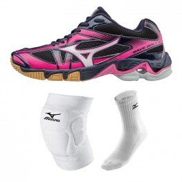 Mizuno Wave Bolt 6 - Super Deal (zwart-roze)