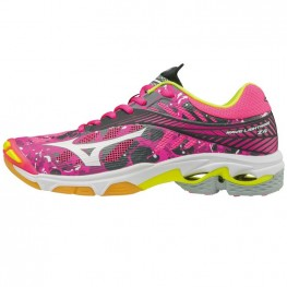 Mizuno Wave Lightning Z4 - Mega Deal (roze/geel)