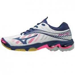 Mizuno Wave Lightning Z4 - Mega Deal (wit/marine/roze)