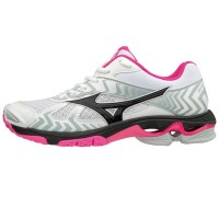 Mizuno Wave Bolt 7 - Super Deal (wit/zwart/roze)