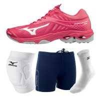 Mizuno Wave Lightning Z4 - Mega Deal (roze/wit)
