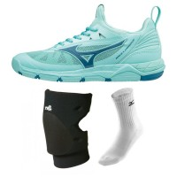 Mizuno Wave Luminous - Super Deal (lichtblauw)