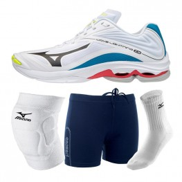 Mizuno Wave Lightning Z6 - Mega Deal (white/rainbow)
