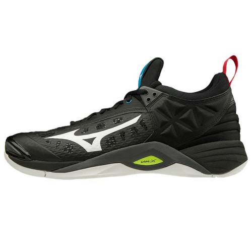 Mizuno Wave Momentum (black/white/safety yellow)